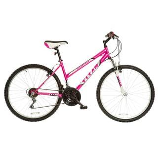 Titan Women's Pathfinder Hot Pink 18-speed Suspension Mountain Bike