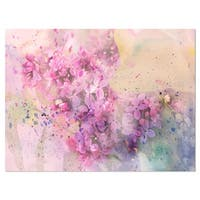 Twig of Lilac Flowers - Large Floral Glossy Metal Wall Art