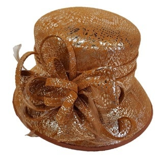Hatch Swan Hat Metallic Leather Blocked Church Hat