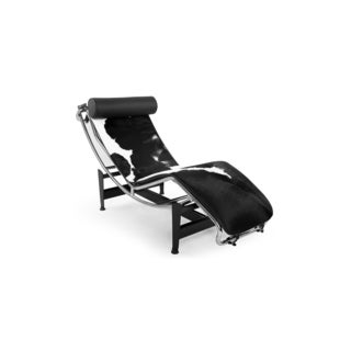 Kardiel Gravity Cowhide Chaise Lounge  sc 1 st  Overstock : black lounge chaise - Sectionals, Sofas & Couches