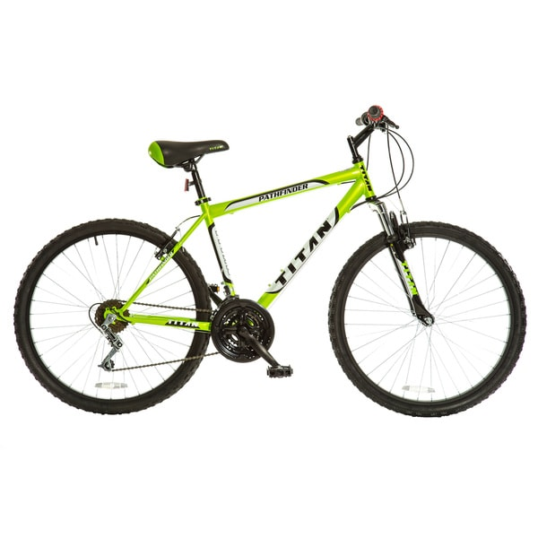 Titan Men's Pathfinder Key Lime Green 18-speed Suspension Mountain Bike