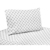 Sweet Jojo Designs Grey and Mint Mod Arrow Collection 4-piece Sheet Set