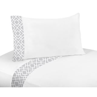 Sweet Jojo Designs Grey and White Diamond Collection Queen 4-piece Sheet Set