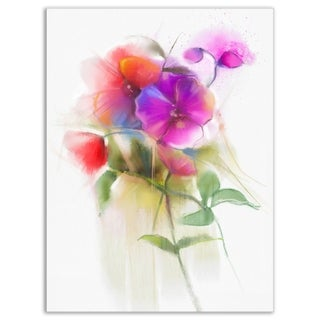 Bunch of Colorful Orchid Flowers - Large Flower Glossy Metal Wall Art