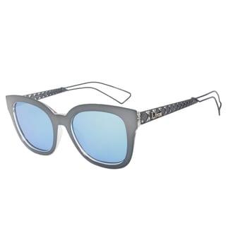 Christian Dior Dior 1 Sunglasses Y1CA4 Gunmetal Frame Sky Blue Lens
