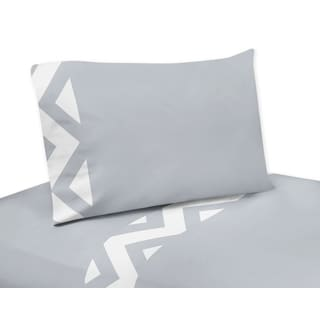 Sweet Jojo Designs Grey and White Chevron Collection 4-piece Sheet Set