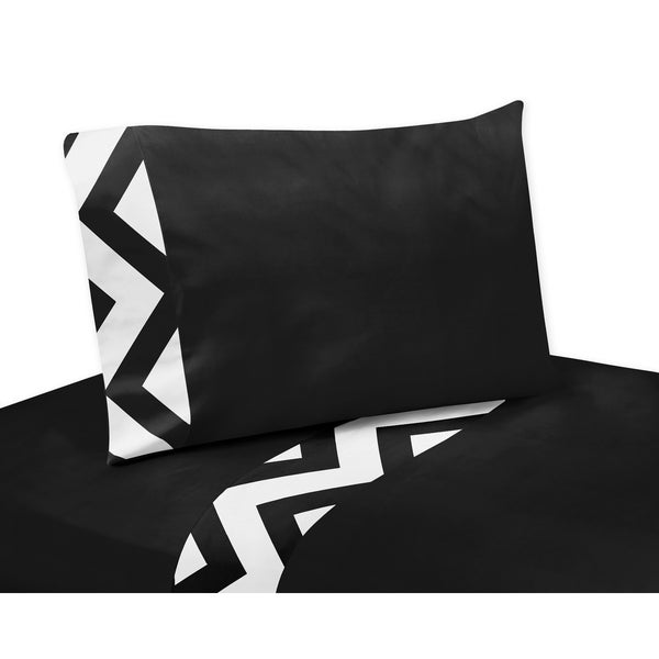 Sweet Jojo Designs Chevron Collection Black/ White Sheet Set