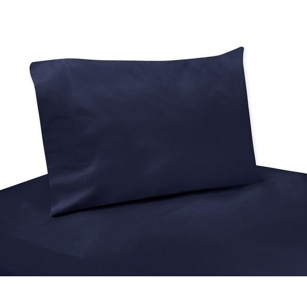 Sweet Jojo Designs Arrow Collection Solid Navy Blue 4-piece Sheet Set