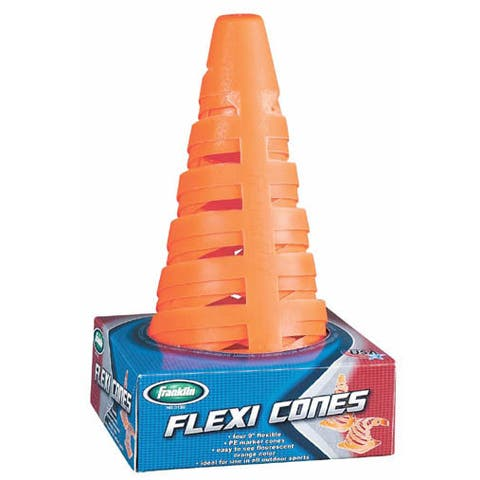 """Franklin 3130S1 9"""" Flexi Marker Cones Assorted Colors 4-count - 5.2 x 5.2 x 9.2 in"""