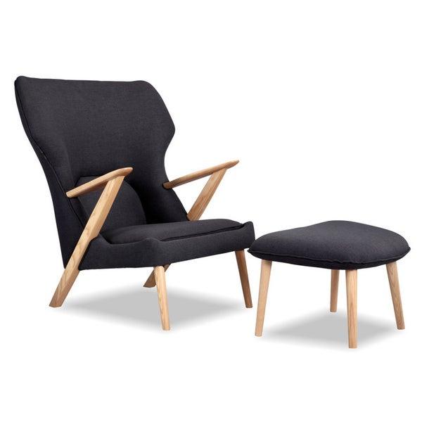 Karl Cub Mid Century Modern Lounge Chair Ottoman
