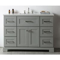 Legion Quartz Top Cool Grey 48-inch Single Bathroom Vanity