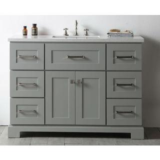 Legion Quartz Top Cool Grey 48-inch Single Bathroom Vanity