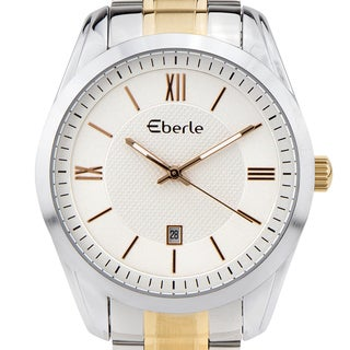 Eberle Dormer Men's classic dress watch, vintage style dial, Miyota movement