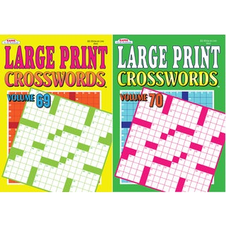 Kappa Publication 3843 Large Print Crosswords Assorted Volumes