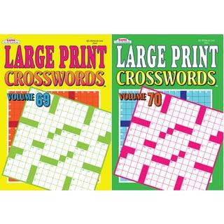 Kappa Publication 3843 Large Print Crosswords Assorted Volumes