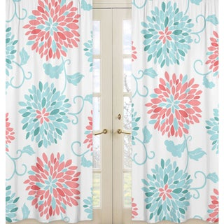 sweet jojo designs emma collection coral turquoise white