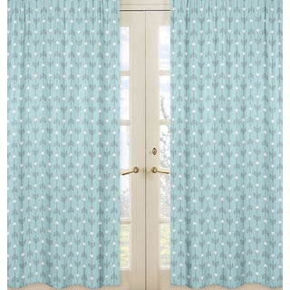 Sweet Jojo Designs Earth and Sky Collection Turquoise Arrow Print Microfiber 84-inch Curtain Panels (Set of 2)