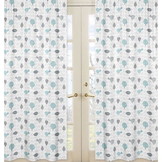 Sweet Jojo Designs Earth and Sky Curtain Panel Pair