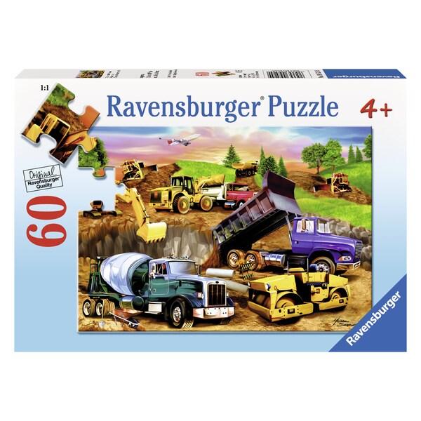 """Ravensburger 09525 10.25"""" X 14.25"""" Construction Crowd Puzzle 60 Piece"""