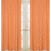 Sweet Jojo Designs Arrow Collection Orange and White Microfiber Curtain Panel Pair
