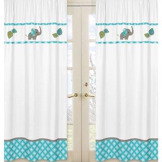 Sweet Jojo Designs Mod Elephant Collection Multicolor Window Panels (Set of 2)