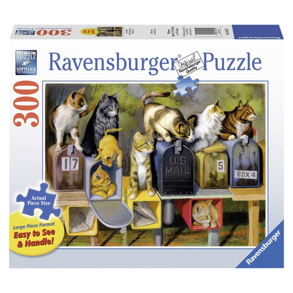 "Ravensburger 13562 27"" X 30"" Cat's Got Mail Puzzle 300 Piece"