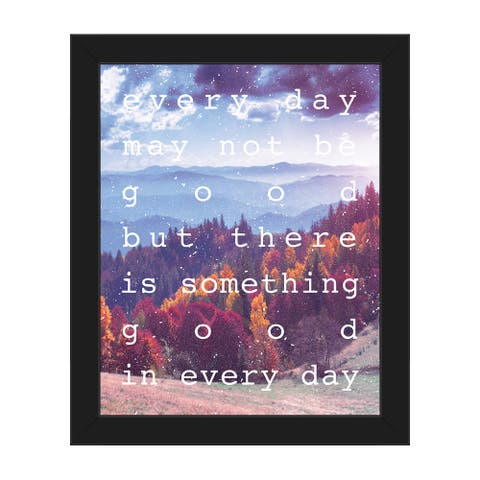 Something Good Mountain' Framed Canvas Wall Art
