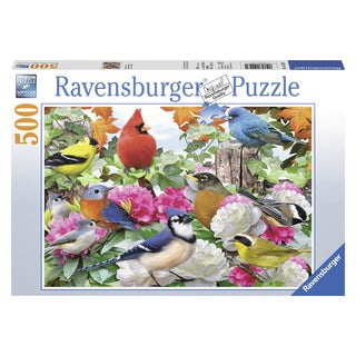 "Ravensburger 14223 19.5"" X 14.25"" Garden Birds Puzzle 500 Piece"