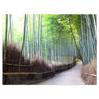 Kyoto Bamboo Forest Pathway - Forest Glossy Metal Wall Art