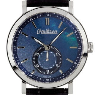Omikron Harrier Men's Vintage Styled Swiss Made Watch, Mother of Pearl Dial, Sapphire Crystal