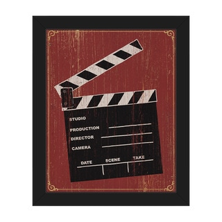 Clapperboard' Framed Canvas Wall Art