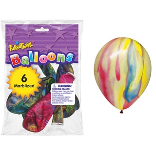 "Pioneer National Latex 11540 12"" Marbleized Funsational Balloons 6-count"