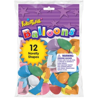 Pioneer National Latex 11542 Funsational Balloons Assorted Novelty Shapes 12-count