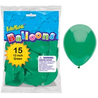 """Pioneer National Latex 55165 12"""" Green Funsational Balloons 15-count"""