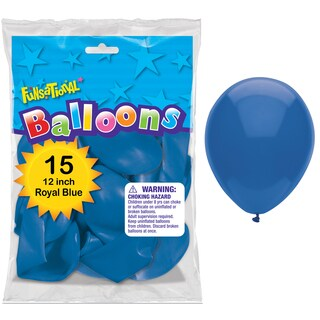 """Pioneer National Latex 55171 12"""" Royal Blue Funsational Balloons 15-count"""