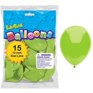 "Pioneer National Latex 55196 12"" Kiwi Lime Funsational Balloons 15-count"