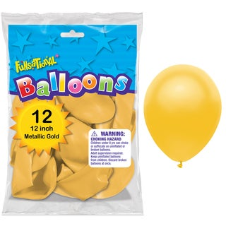 "Pioneer National Latex 55219 10"" Gold Funsational Balloons 12-count"