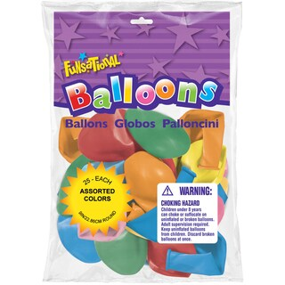 Pioneer National Latex 93196 Funsational Balloons Assorted 25-count