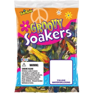 Pioneer National Latex 72306 Tye Dye Groovy Soakers Water Balloons 36-count