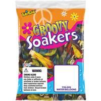 Pioneer National Latex 72306 Tye Dye Groovy Soakers Water Balloons 36-count - Orange