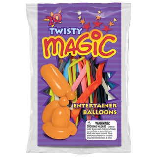 Pioneer National Latex 72390 Twisty Magic Balloons Assorted Colors 20-count