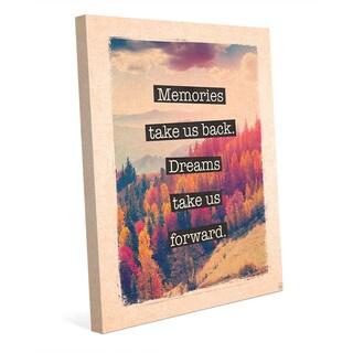 Dream Forward Photo Autumn Canvas Wall Art