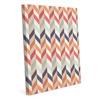 Autumn Chevron Pattern Canvas Wall Art