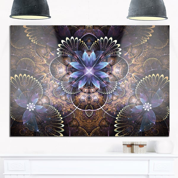 Shop Fractal Glossy Blue Flower Digital Art - Large Floral Glossy ...