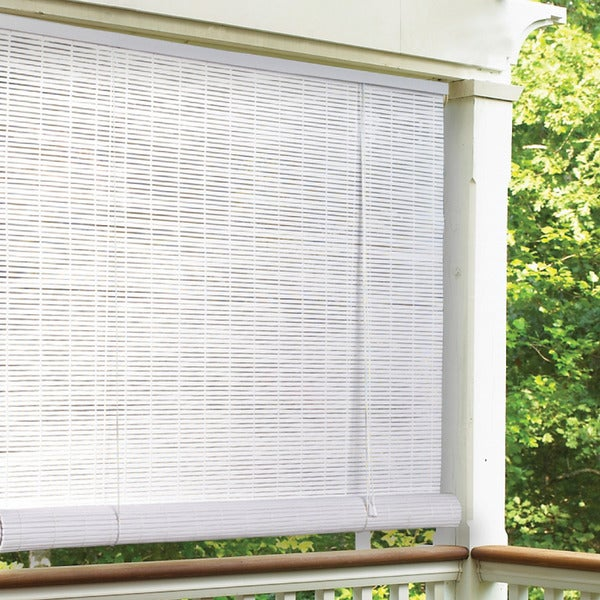 I Love Living White Indoor Outdoor Roll Up Shade Free