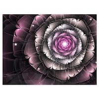 Fractal Flower Glossy Pink Digital Art - Large Floral Glossy Metal Wall Art