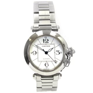 Pre-owned 35mm Cartier Stainless Steel Pasha 'C'