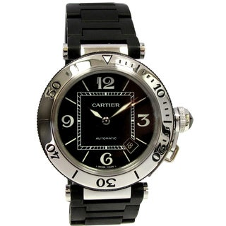 Pre-owned Cartier Women's Stainless Steel Pasha Seatimer Watch