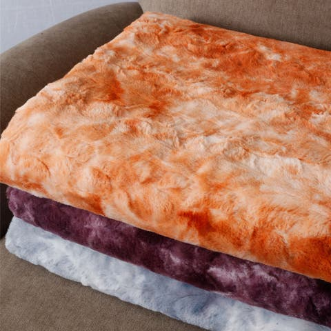Boon Tie Dyed Double Sided Faux Fur Throw