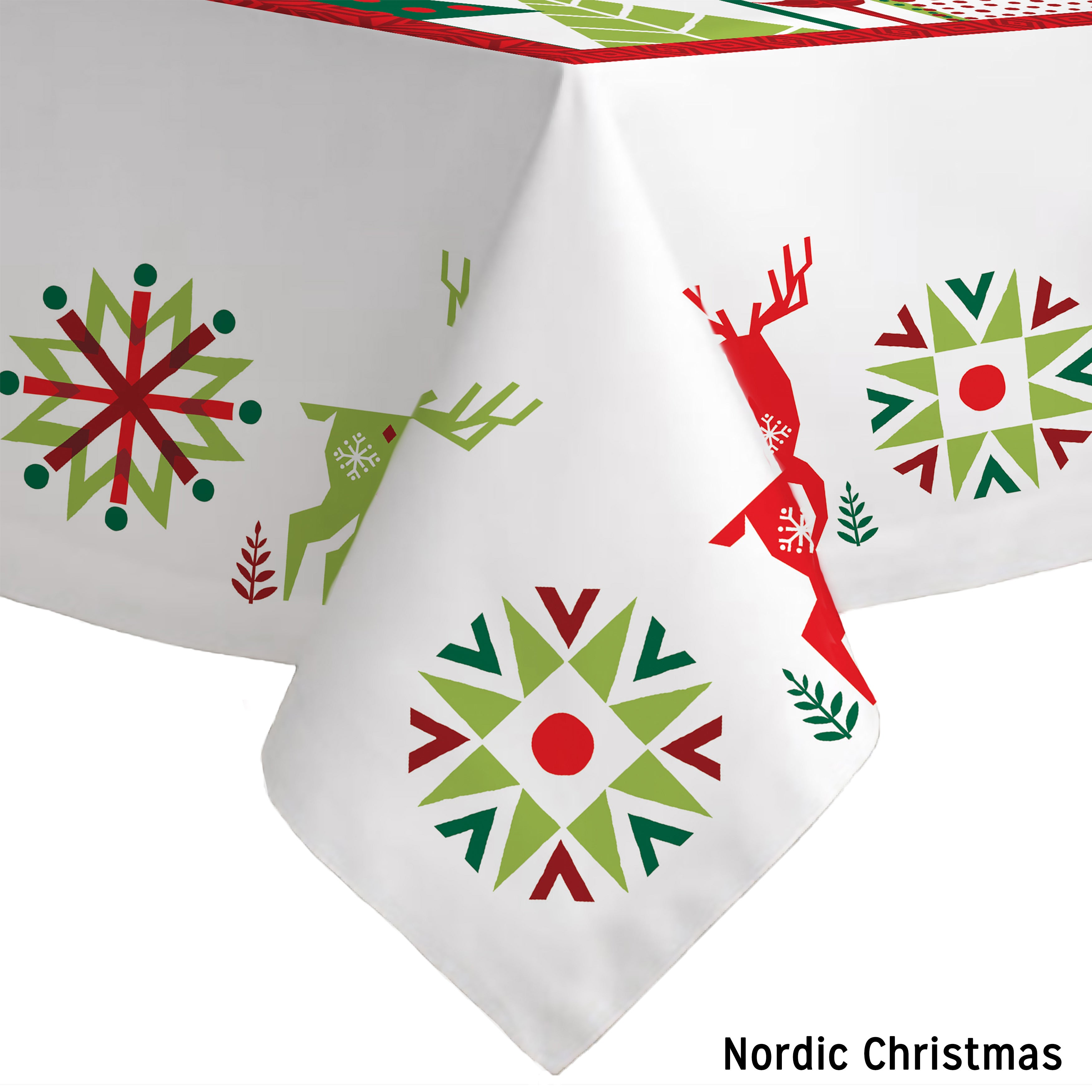 Laural Home Holiday Collection Christmas-print Tablecloth...